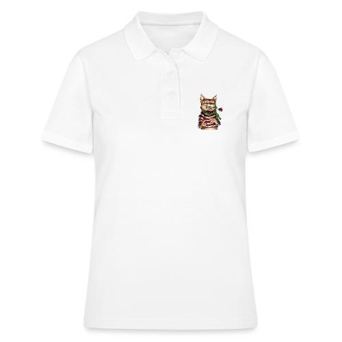 T-shirt - Crazy Cat - Polo Femme