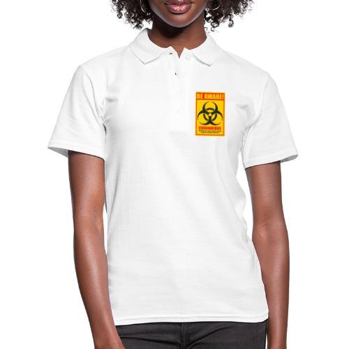 Be aware! Coronavirus biohazard - Women's Polo Shirt