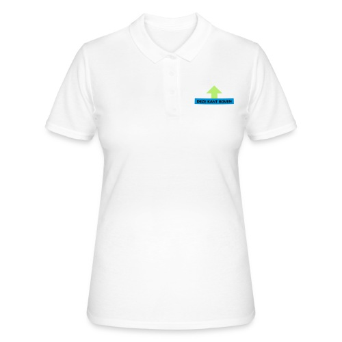 Grappige Rompertjes: Deze kant boven - Women's Polo Shirt