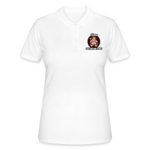 Konig Schweinehund WHITE - Women's Polo Shirt