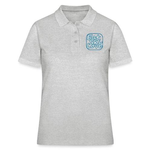 eat ski love - Women's Polo Shirt