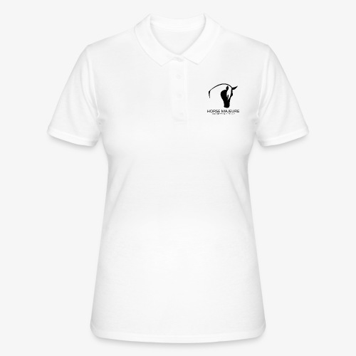 Horse Majeure Logo / Musta - Naisten pikeepaita