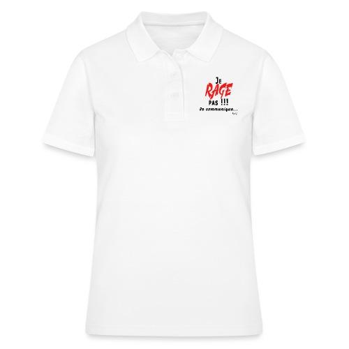 Je rage pas je communique Noir Rouge - Women's Polo Shirt