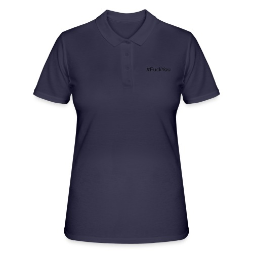 #FuckYou Black - Women's Polo Shirt