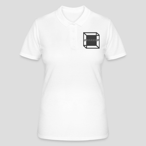 Squared Apparel Black / Gray Logo - Women's Polo Shirt