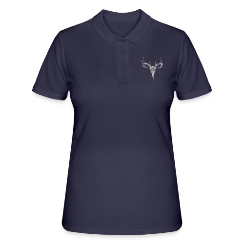 Deer skull with rose - Women's Polo Shirt