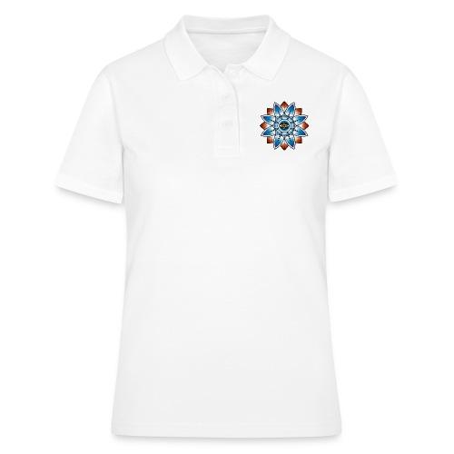 Psychedelisches Mandala mit Auge - Frauen Polo Shirt