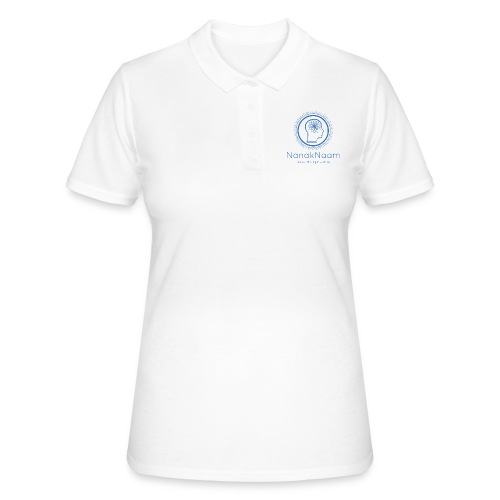 Nanak Naam Logo and Name - Blue - Women's Polo Shirt