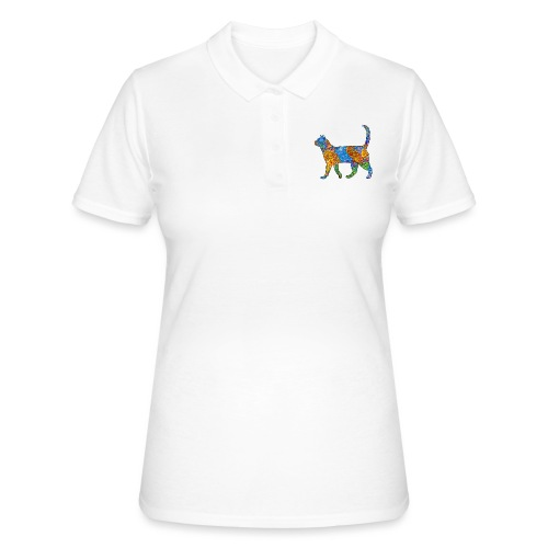 The elegant cat goes palante ... - Women's Polo Shirt