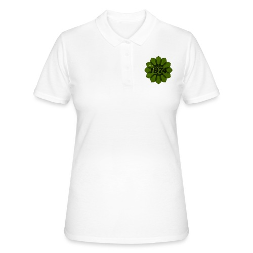 1974 retro flower - Frauen Polo Shirt