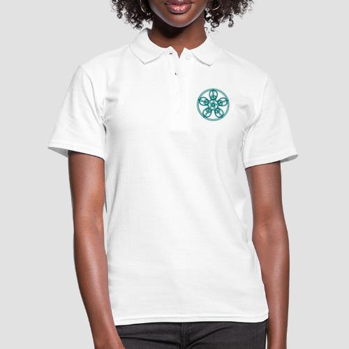 Treble Clef Mandala (teal) - Women's Polo Shirt