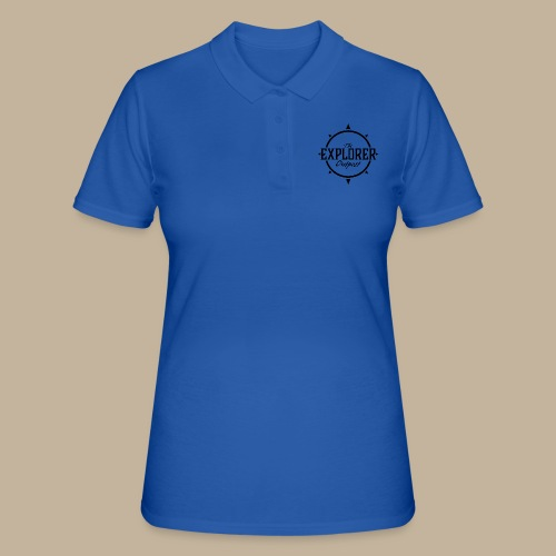 Black TEO Logo - Women's Polo Shirt