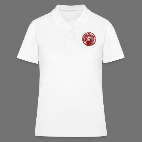 Maschinentelegraph (czerwona oldstyle) - Koszulka polo damska