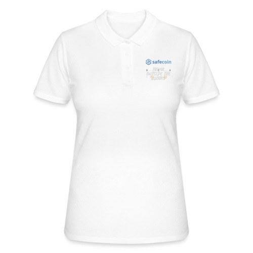 SafeCoin; Think Outside the Blocks (blue + white) - Women's Polo Shirt