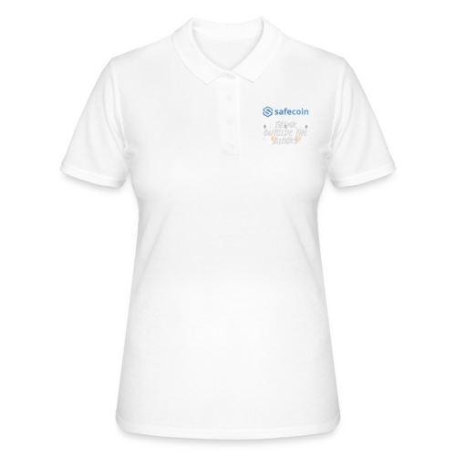 SafeCoin; Think Outside the Blocks (blue + white) - Women's Polo Shirt