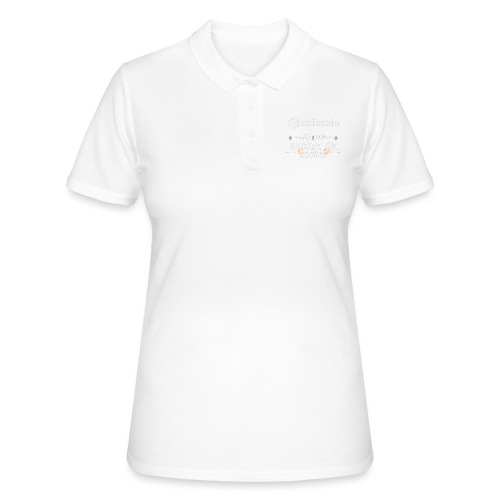 Safecoin Think Outside the Blocks (white) - Women's Polo Shirt
