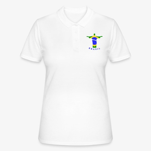 Brasil Flag Statue - Frauen Polo Shirt