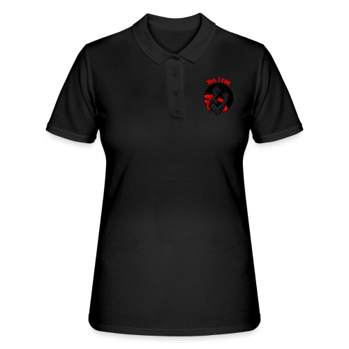 Yes I can rood - Vrouwen poloshirt