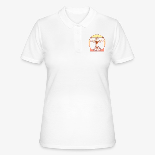 vitruvian luminance graffiti love - Frauen Polo Shirt