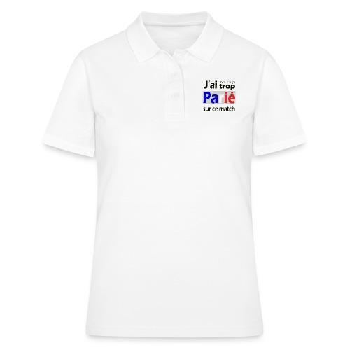 J'ai trop parié sur ce match - Women's Polo Shirt