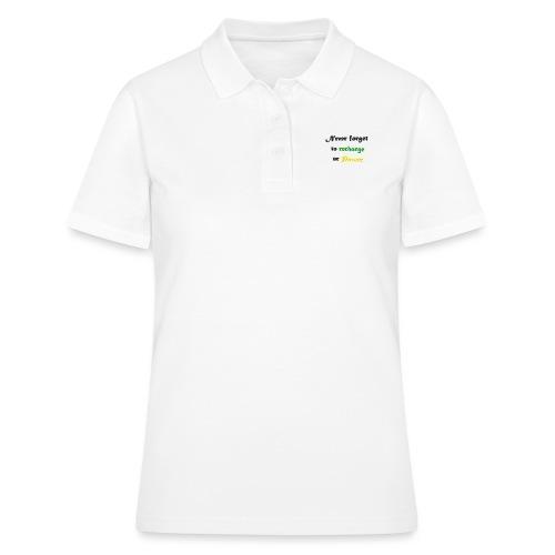 Recharge ur power saying in English - Women's Polo Shirt