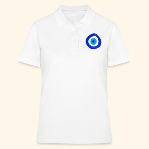 Blue evil eye Water Colour - Women's Polo Shirt