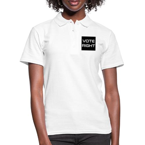 vote right - Frauen Polo Shirt