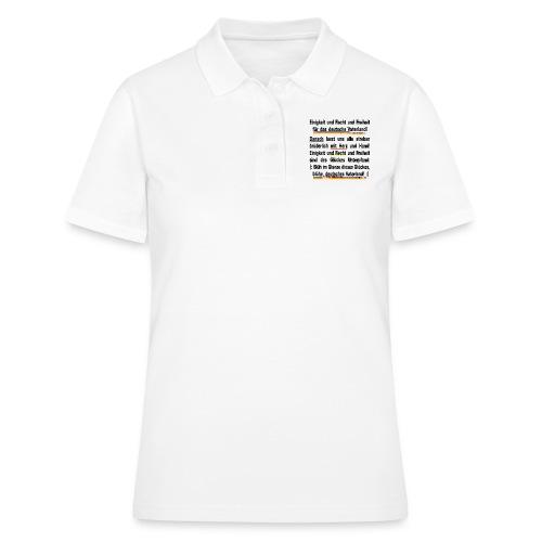 deutsche Hymne Text - Frauen Polo Shirt