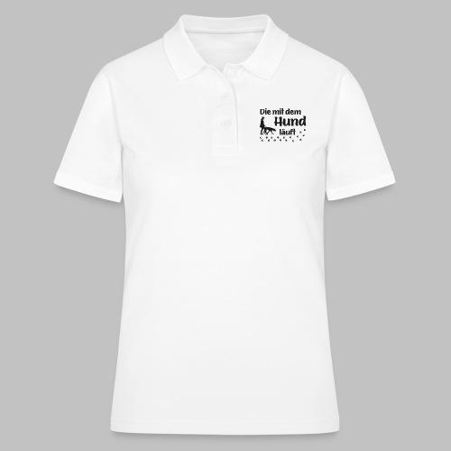 Die mit dem Hund läuft - Pfoten - Pfotenabdruck - Frauen Polo Shirt