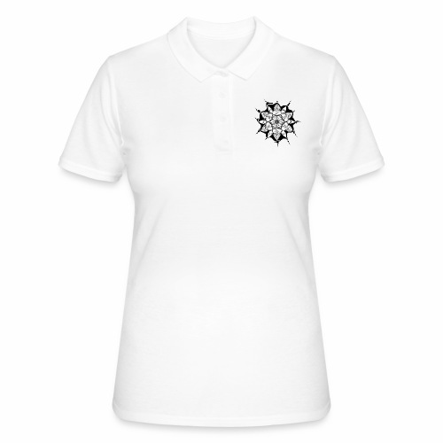 Flower Doodle black - Frauen Polo Shirt