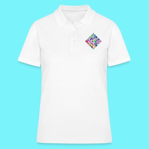 A square school of triangular coloured fish - Women's Polo Shirt