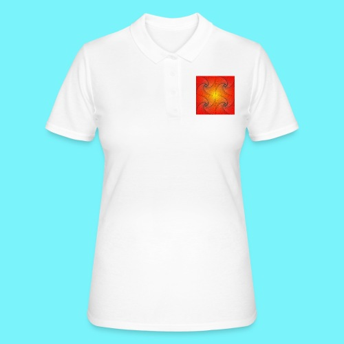 Pursuit curve in red and yellow - Women's Polo Shirt