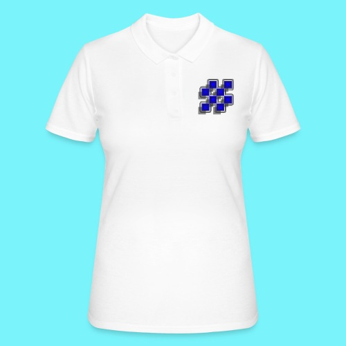 Blue Blocks with shadows and perimeters - Women's Polo Shirt