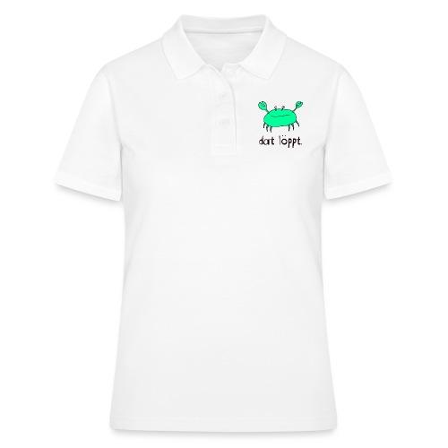 Ostfriesland FUN Shirt - Dat Löppt Strandkrabbe - Frauen Polo Shirt