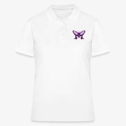 Fioletowy motyl - Women's Polo Shirt