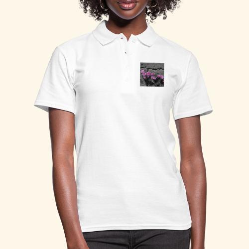 Fiori viola disegnati - Women's Polo Shirt