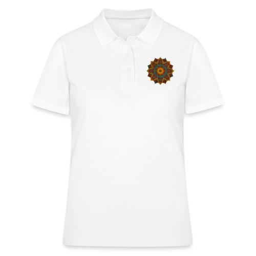 HANDPAN hang drum MANDALA teal red brown - Frauen Polo Shirt