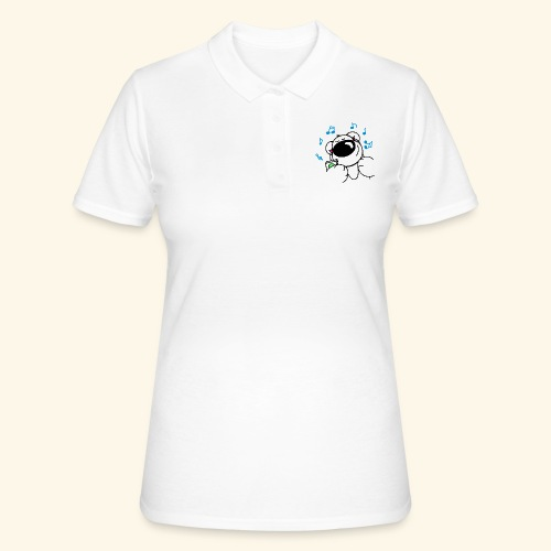 Der Bär hört Musik - Frauen Polo Shirt