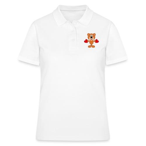 TEDDY - BÄR - LIEBE - LOVE - KIND - BABY - Frauen Polo Shirt
