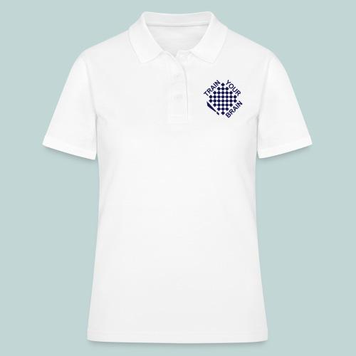 train your brain einfaerbig - Frauen Polo Shirt