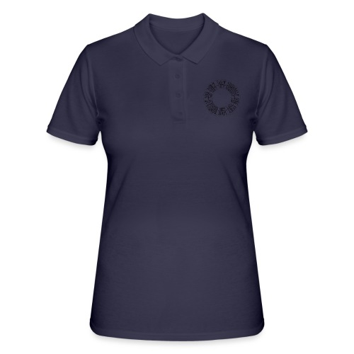 calligrafia-nera - Women's Polo Shirt