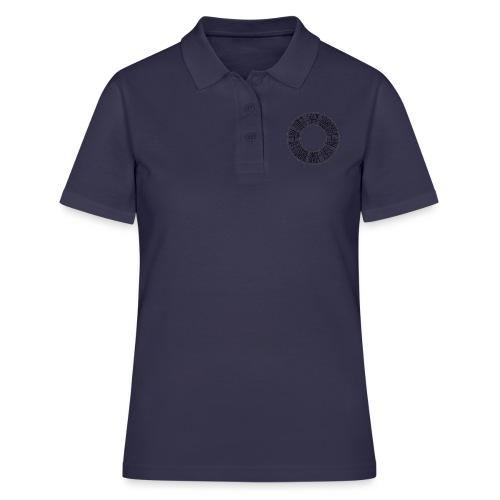 CALLIGRAPHY-CIRCLE - Women's Polo Shirt