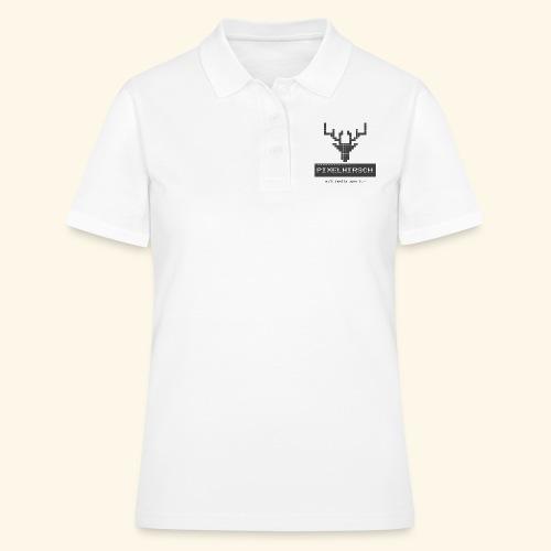 PIXELHIRSCH - grau - Frauen Polo Shirt