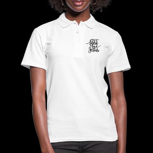 My fist love is Jesus - Frauen Polo Shirt