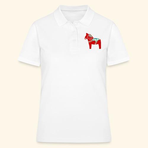Röd dalahäst - Pikétröja dam