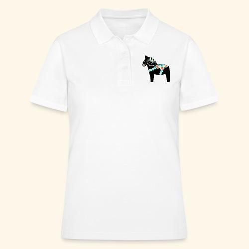 Svart dalahäst - Women's Polo Shirt