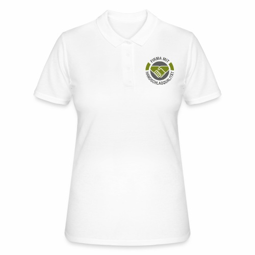Handschlagqualität Logo grau - Frauen Polo Shirt
