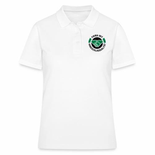 Handschlagqualität Logo schwarz - Frauen Polo Shirt