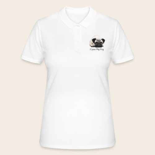 love my pug - Frauen Polo Shirt