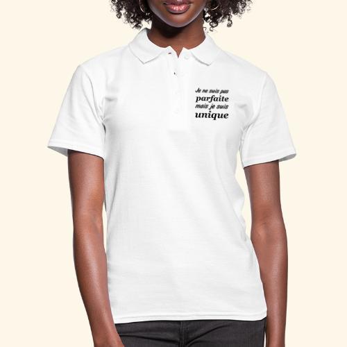 je ne suis pas parfaite femme - Women's Polo Shirt
